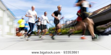 People In Running Competition