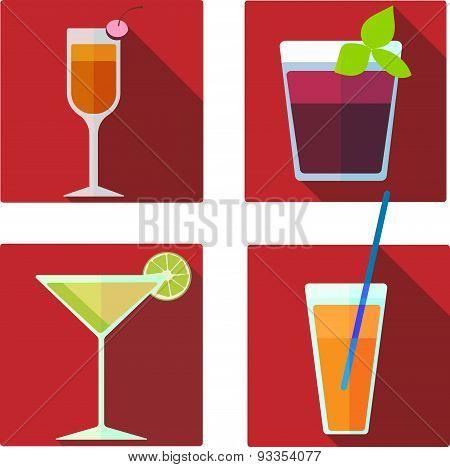 Vector cocktail illustrations set
