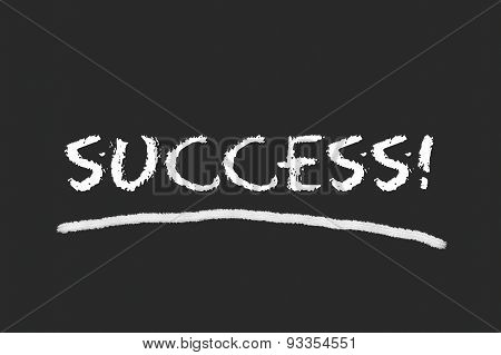 Success Script On A Blackboard