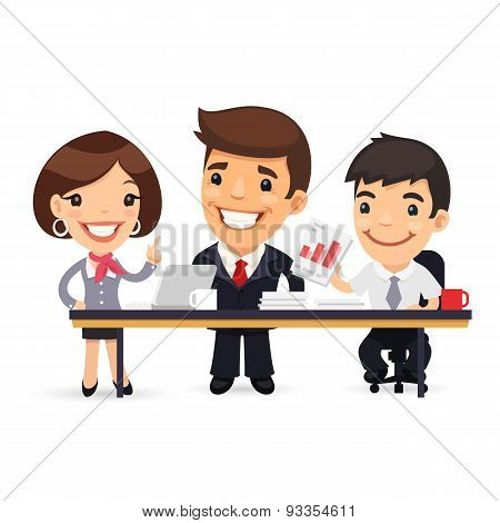 Business Team Working on the Project