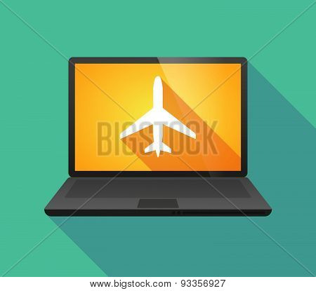 Laptop Icon With A Pushpin