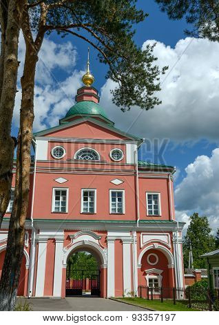 Northern Holy Gate Of Intercession Khotkovo Monastery, Moscow Region, Russia.