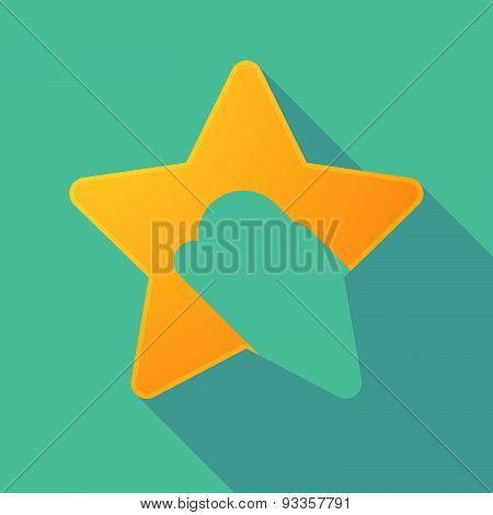 Long Shadow Star With A Bit Coin Sign