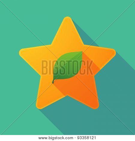 Long Shadow Star With A Leaf
