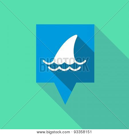 Tooltip Icon With A Shark Fin