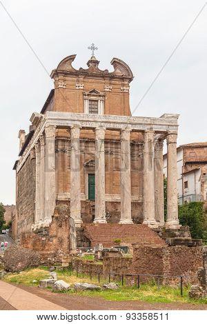 Ancient Church In Roman Ruins