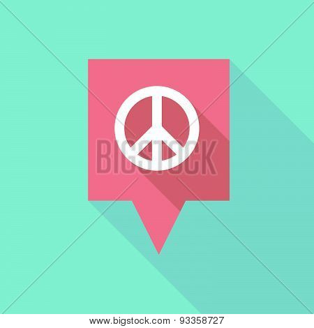 Tooltip Icon With A Peace Sign