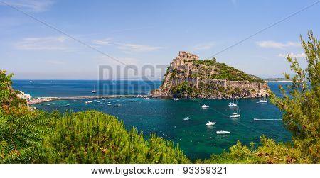 Aragon castle. Ischia island, Italy