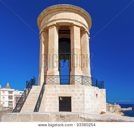 The Siege Bell War Memorial. Valletta, Malta.
