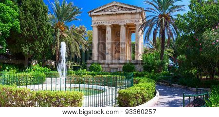 The Lower Barakka Gardens. Valletta, Malta.