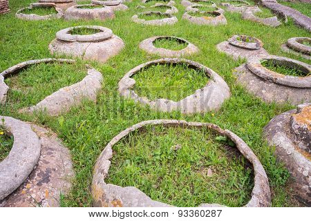Antique Roman Jars, Archeological Site
