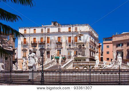 Piazza Pretoria (square of Shame). Palermo, Italy