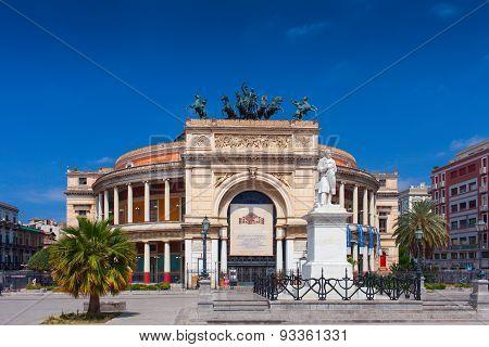 Theater Politeama Garibaldi. Palermo, Italy
