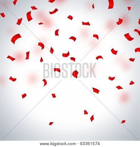 Red Paper In Flight  On A Light Background
