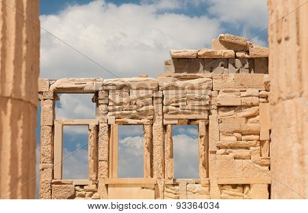 Details of the Erechtheion or Erechtheum temple. Athens.