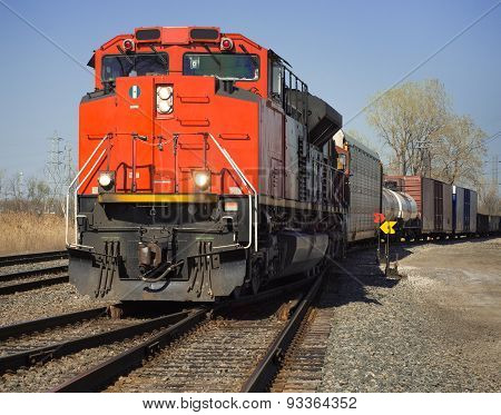 Cn Freight Train From Detroit