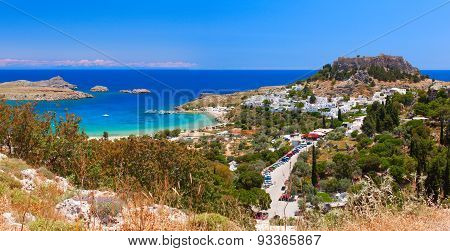 The ancient city - state of Lindos. Rhodes Island, Greece.