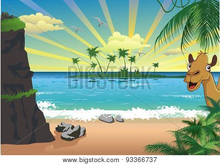 Landscape - Sunrise Over The Sea [