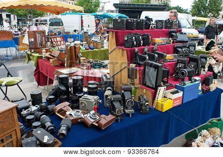 flea market in Chartres, France