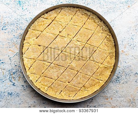 Mysore Pak ~ Traditional Indian sweet made from concoction of gram flour, ghee and sugar