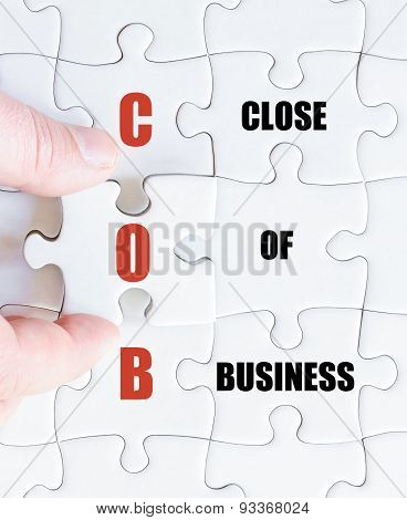 Last Puzzle Piece With Business Acronym Cob