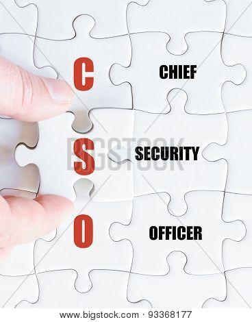 Last Puzzle Piece With Business Acronym Cso