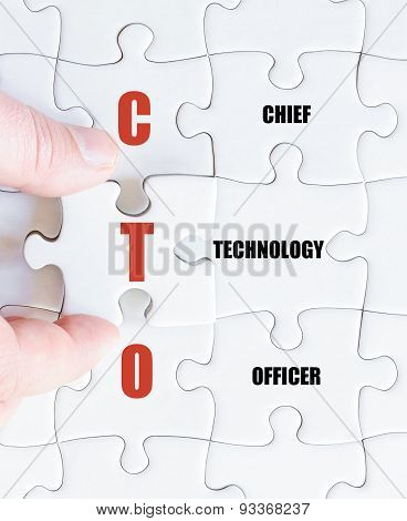 Last Puzzle Piece With Business Acronym Cto