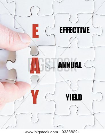 Last Puzzle Piece With Business Acronym Eay
