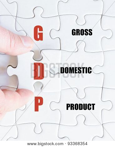 Last Puzzle Piece With Business Acronym Gdp