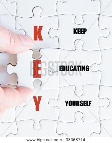 Last Puzzle Piece With Business Acronym Key