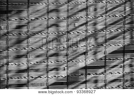 Bamboo Background In Black And White