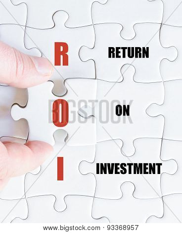 Last Puzzle Piece With Business Acronym Roi