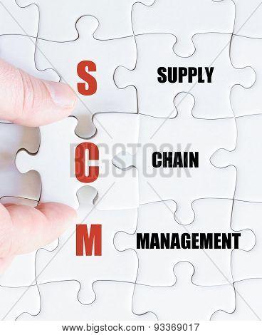 Last Puzzle Piece With Business Acronym Scm