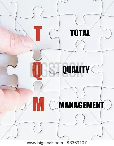 Last Puzzle Piece With Business Acronym Tqm