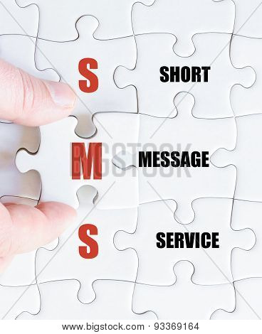 Last Puzzle Piece With Business Acronym Sms