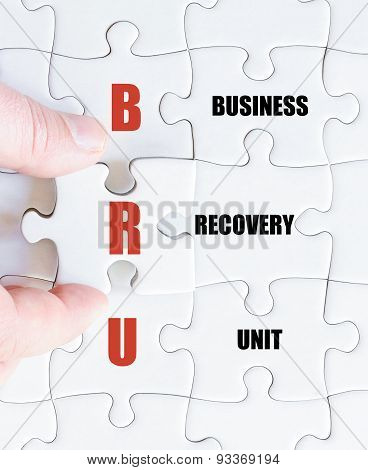 Last Puzzle Piece With Business Acronym Bru