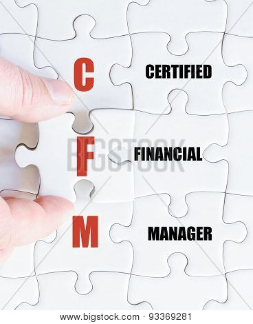 Last Puzzle Piece With Business Acronym Cfm