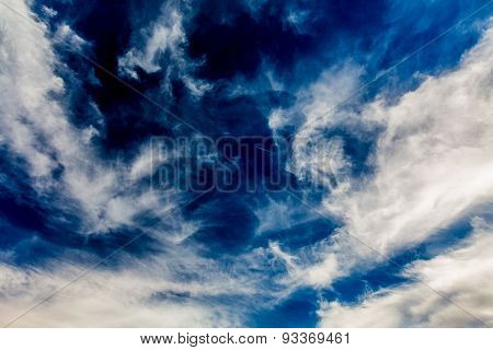 Wispy Feathery Cirrus Clouds
