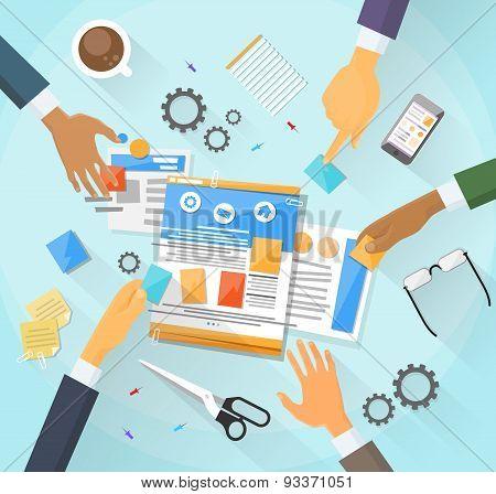 Web Development Create Design Site Building Team People