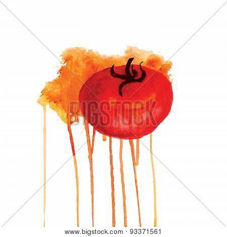 Tomato In A Spray