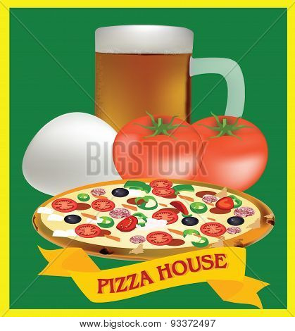 adhesive and pizza ingredients