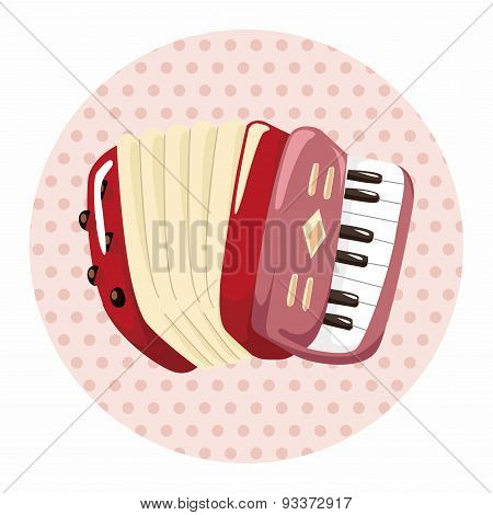 Instrument Accordion Cartoon Theme Elements