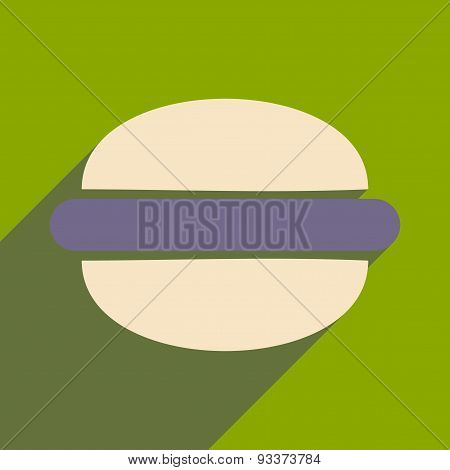 Flat with shadow icon and mobile applacation hamburger