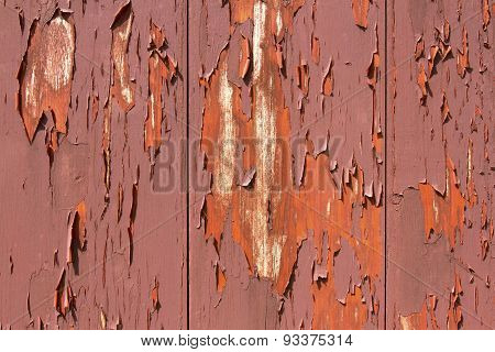 Peeling Paint On Red Barn