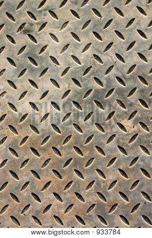 Weathered Metal Floor Cover