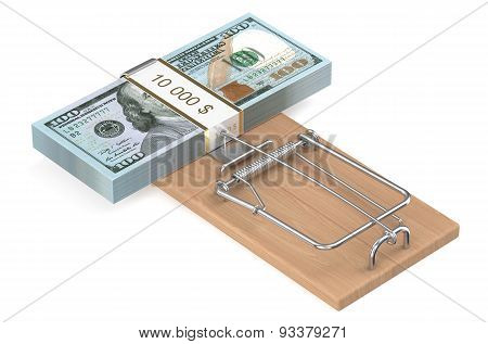 Money Trap With Dollars