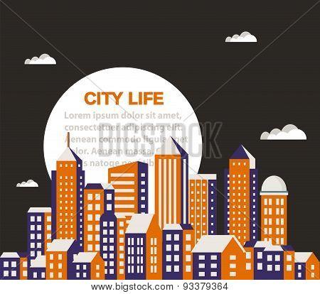 City building  flat