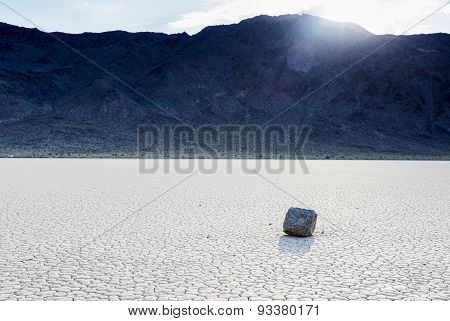 Racing Stones At The Racetrack Playa In Death Valley National Park, California, United States