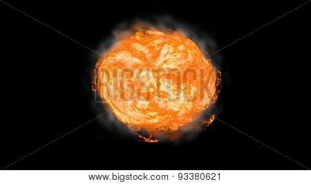 Abstract Sun On Black Background