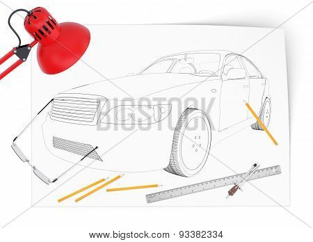 Graphic car model